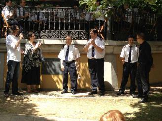Con la Banda Municipal de Música de Astorga Homenaje a Francisco Blanco, agosto de 2012