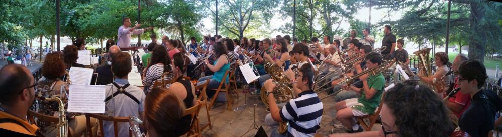 Con la Banda Municipal de Música de Astorga, agosto de 2012