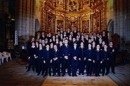 Con la Banda Municipal de Música de Astorga en la Catedral de Astorga Concierto Edades del Hombre, febrero de 2001