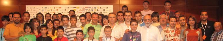 En la Foto de Familia de los participantes en la Master Class de José Ortí en el CIM Ciudad de Astorga, julio de 2007