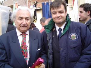Con Odón Alonso en el Encuentro de Bandas de Castilla y León, Santa María del Páramo (León), mayo de 2004