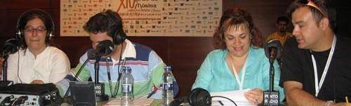En directo para Punto Radio Castilla y León en el CIM Ciudad de Astorga, julio de 2007