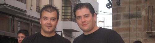 Con Luís Miguel Abello en el Concierto de Clausura del CIM Ciudad de Astorga, julio de 2007