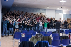 Con el Coro de Gospel GLORIA y PROESO en Valencia, noviembre de 2011