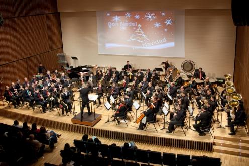 Fotografías Grupo Instrumental PROESO en el concierto de Navidad en Rafelbunyol (Valencia), 23.12.2011. Director, Ignasi Climent Mateu