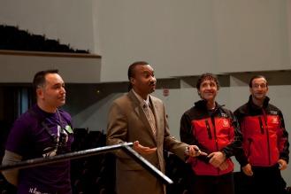 Saludo del Embajador de Haití al Grupo Instrumental y Coral PROESO