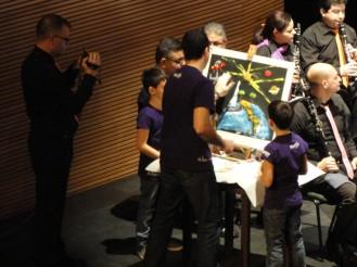 Con PROESO en el Concierto Palau de les Arts de Valencia, 3/2/2013, con la colaboración de Placido Domingo