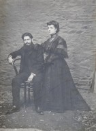 Angel Julian Rubio y Florinda Velasco de Santiago, foto de su boda. 3 de agosto de 1907 (Foto cedida por Meli Blanco Julián)