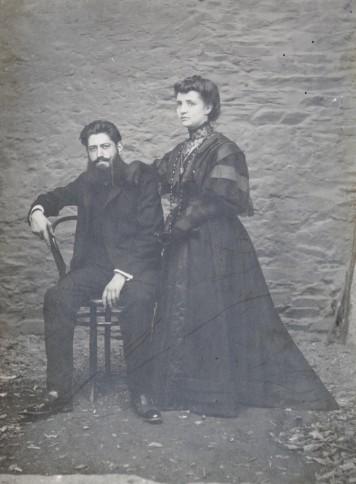 01 Angel Julian Rubio y Florinda Velasco de Santiago, foto de su boda 3 de agosto de 1907