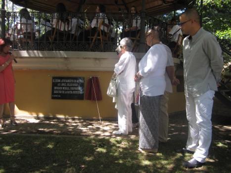 Descubrimiento Placa en honor a Ángel Julián Rubio como director Banda Municipal (fotografía de Juan José Alonso Perandones), agosto de 2103