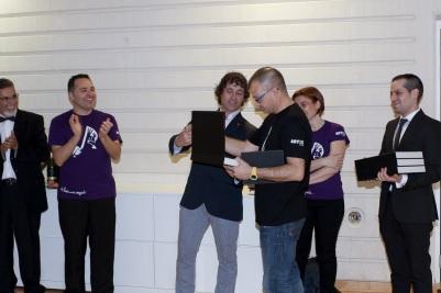 Con PROESO en el Palau de les Arts de Valencia como Director Artístico del Proyecto SolidariPop, 12 de abril de 2014. Reconocimiento por parte de BUSF